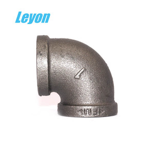 Pipe Fitting Cast Clamp Galvanized Malleable Iron 90 Degree Elbow