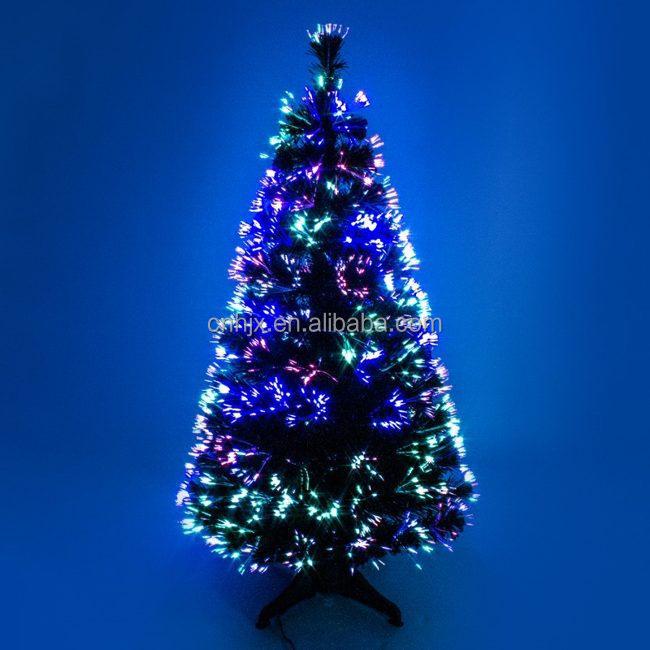 kleurrijke shiny glitter glasvezel chrismas boom draad verlichte glasvezel kerstboom transformator