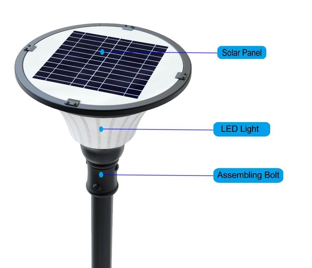 2016 Top Seller Ip65 Led Solar Garden Lighting Pole Light