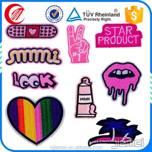 Fashionable 3d self-adhesive heat embroidery patch in Nanjing Jiamei
