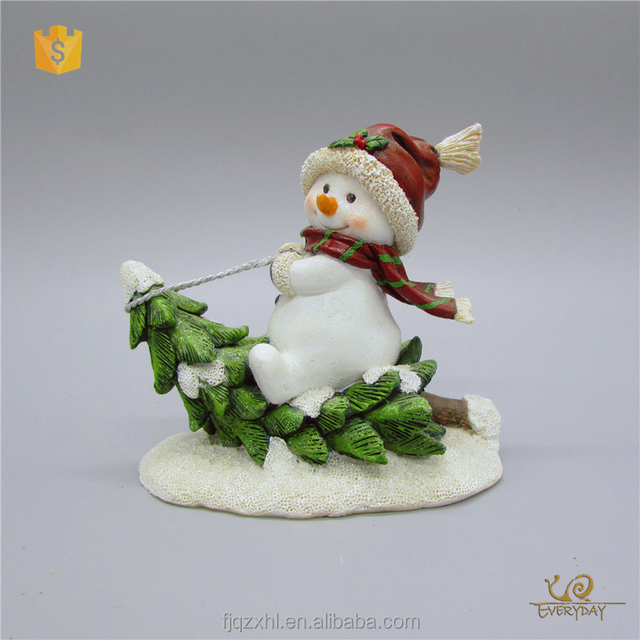 OEM Personalized Ornaments Present Snowman Figures Craft Christmas Decoration