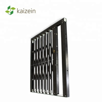Expandable security barries grill door sliding double sash