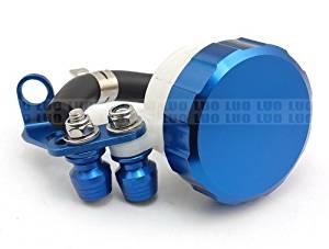 Motorcycle Racing CNC Billet Blue Front Brake Clutch Tank Master Cylinder Fluid Oil Reservoir For Suzuki GSXR600 1997 1998 1999 2000 2001 2002 2003