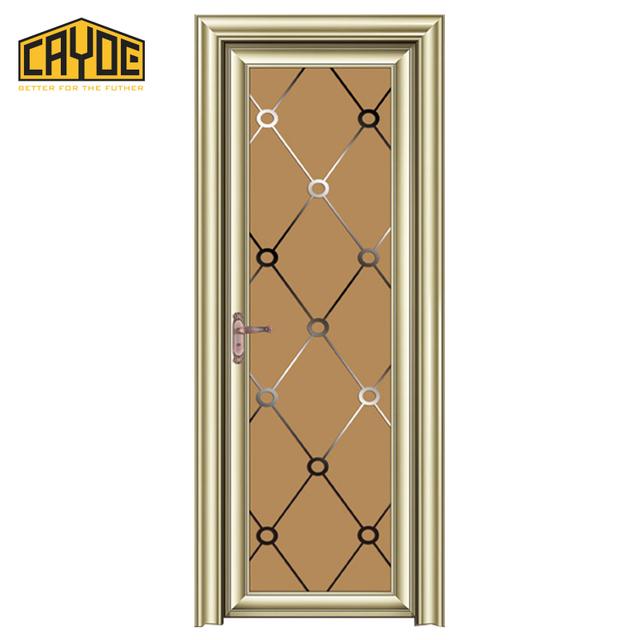 Good Quality Aluminum Frame Glass Interior Door Sound Proof Bathroom Doors