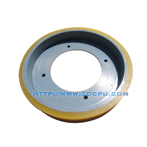 Custom mold cheap price engineering rubber belt wheel pulley