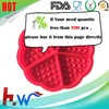 Round shape Waffle cake silicone mold biscuit cake mould