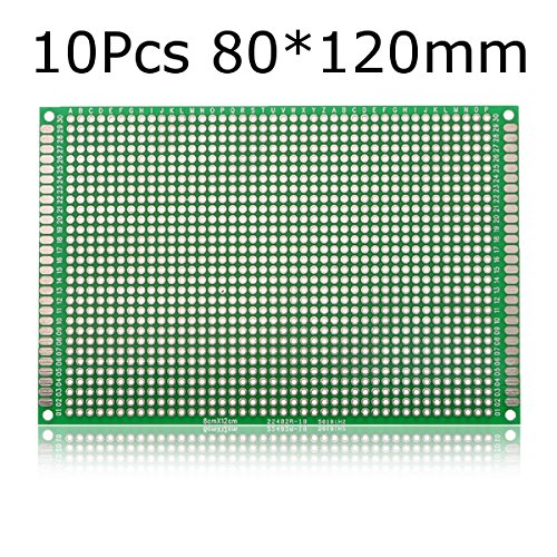 10Pcs 80120mm FR-4 Double-Side Prototype PCB Printed Circuit Board
