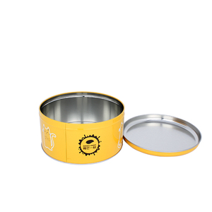 metal tin biscuit box round