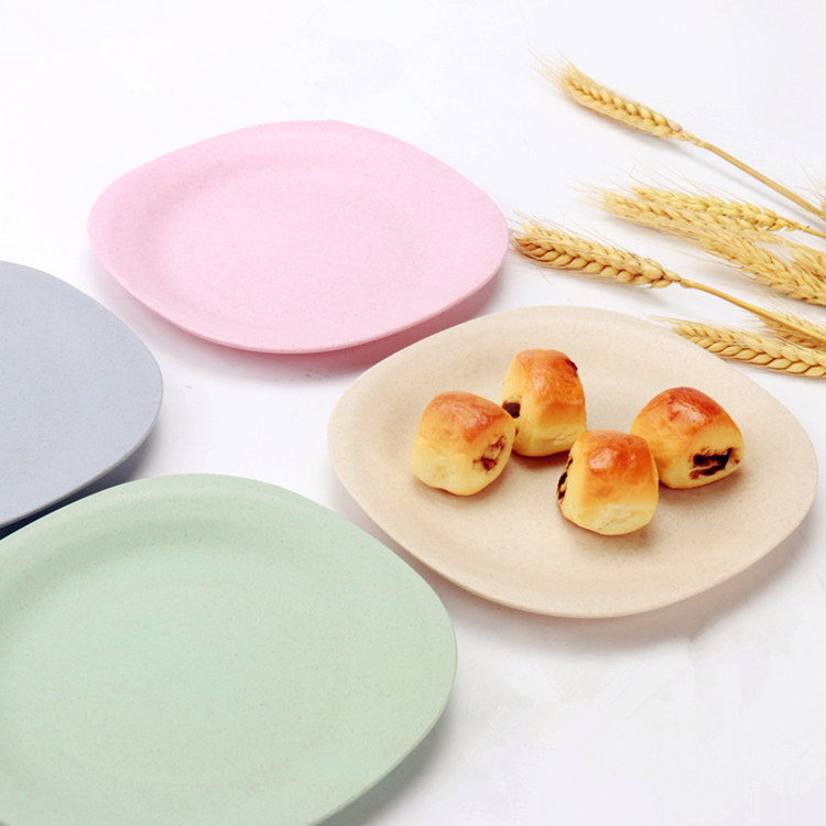 Wholesale Natural Eco-Friendly Serving Bamboo Fiber Kids Adults Dinner Plate