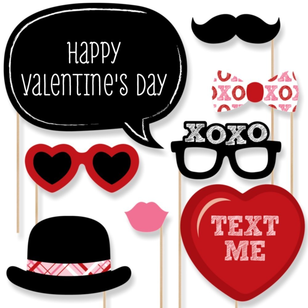 Buy Custom Valentines Day Photo Booth Props Personalized