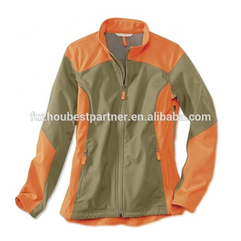 Breathable women high quality soft shell winter warm hunting jacket fleece lined