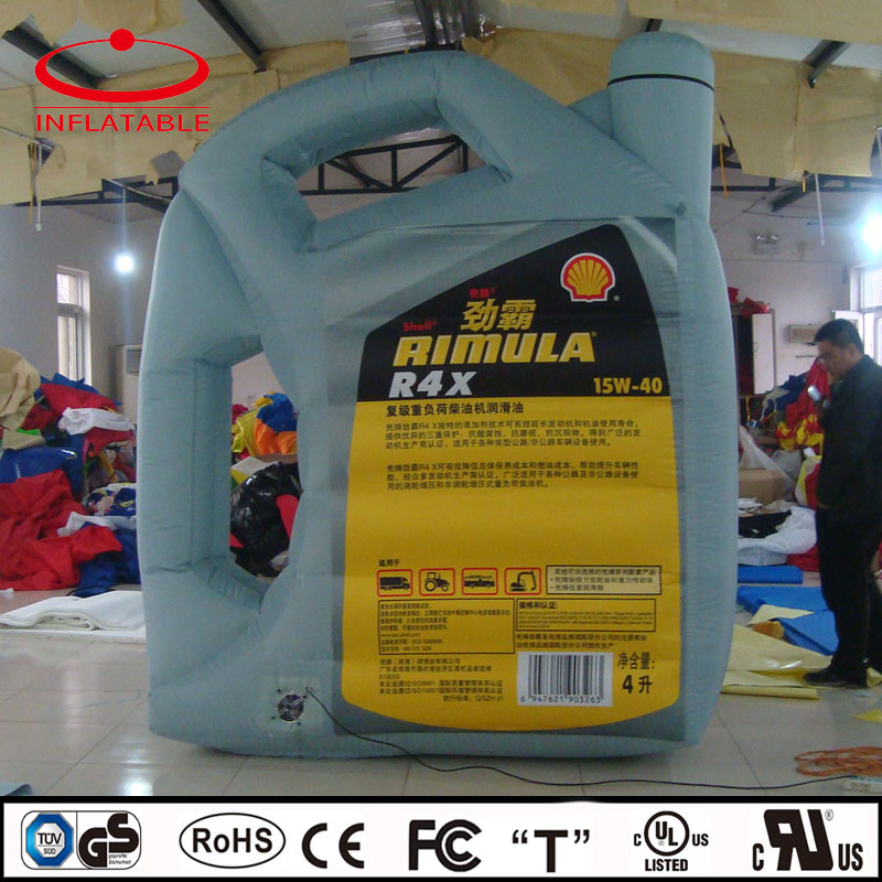 Advertising inflatable lubricating oil bottle, inflatable bottle replica model