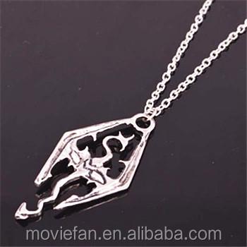 Elder Scrolls Skyrim Necklace Game Memorabilia Fan Item Novelty Fashion  Wear Jewelry - Buy Elder Scrolls,Elder Scrolls Skyrim,Broken Heart Pendant