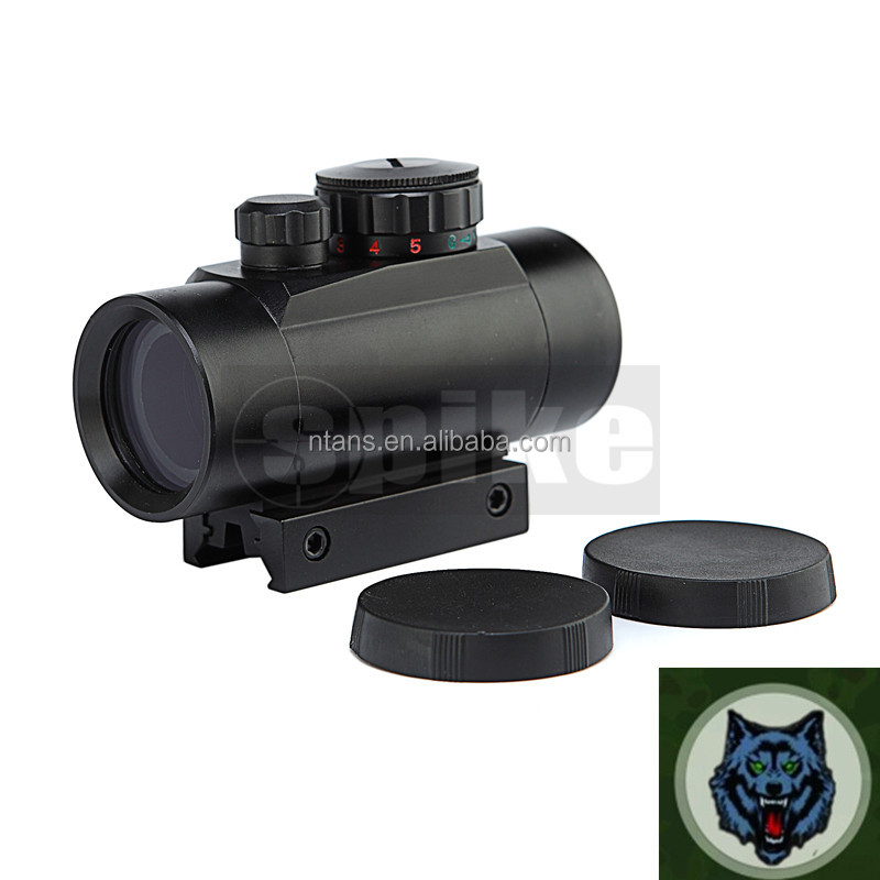 Tactical 1x30mm Red and Green Dot Sight red dot reflex sight for rifle carbine deer hunting