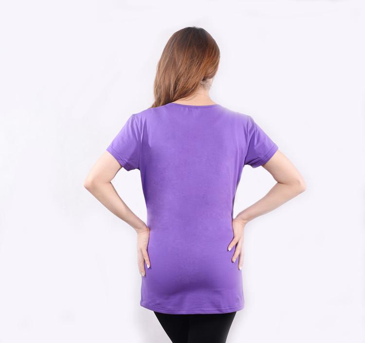 779b15c90ead9 Fashion Maternity Clothes Pregnancy Clothes T-Shirt Preggo Long Sleeve  Plain Shirt for women twins