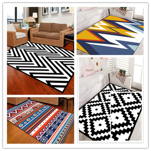 Factory direct wholesale colorful stripe diamond coffee table bedroom living room carpet OEM