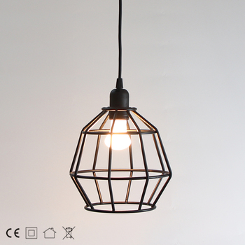 Decoration style metal lamp shade hanging lamp for indoor use