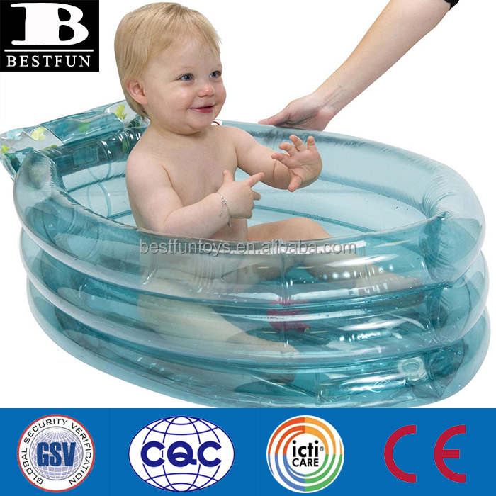 Baby Safety Folding Plastic Inflatable Air Bathtub With Integrated ...