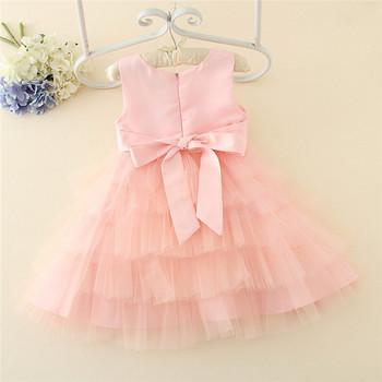 Banyak Lapisan 3 12years Gadis Manik Manik Gaun Bayi Perempuan Gaun