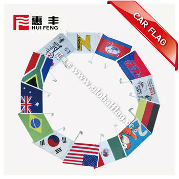 100Denis Polyester Dust-proof Indoor Using Meeting Equipment Promotional Car Window Flag All Countries flag for car