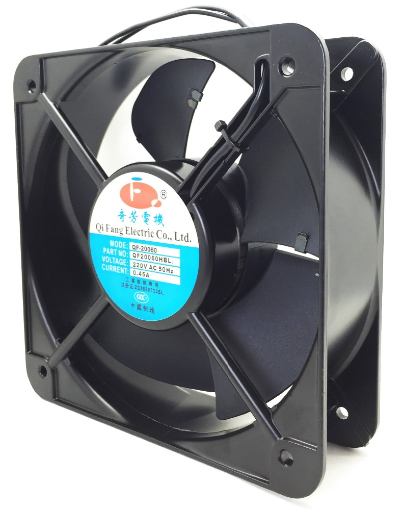 Large airflow high CFM 350 2500 RPM axial fan 200*200*60mm 200mm <strong>ac</strong> 110v 220V 380V axial fan