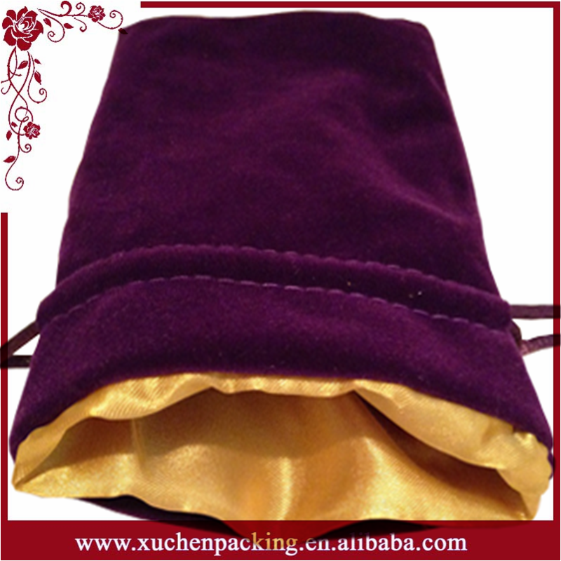 Super Quality Most Popular Satin Lined Velvet Gift Pouch for Camera Packing