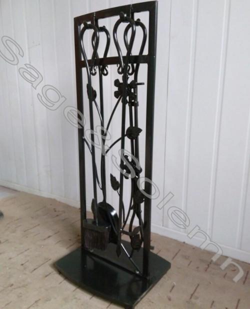 Low Price Wrought Iron Black Fireplace Screen Fireplace Tool Set