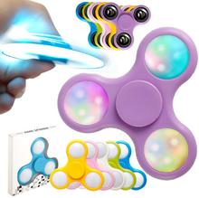 Hand LED Licht <span class=keywords><strong>Spinner</strong></span> Fidget Plastic EDC Game <span class=keywords><strong>Spinner</strong></span> Voor Autisme en ADHD Relief Focus Angst Stress Gift Speelgoed Hot koop