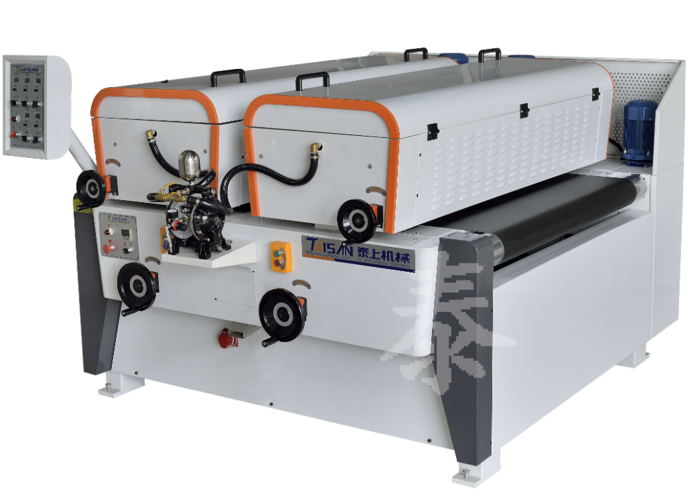 Double laser UV roller coater