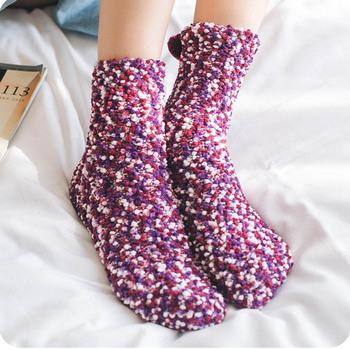 Winter Womens Coral Fleece Tube Socks Sleep Warm Socks Buy