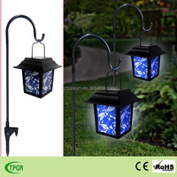 Hot sale Chinese dragonfly palace lanterns with iron stake solar garden led light