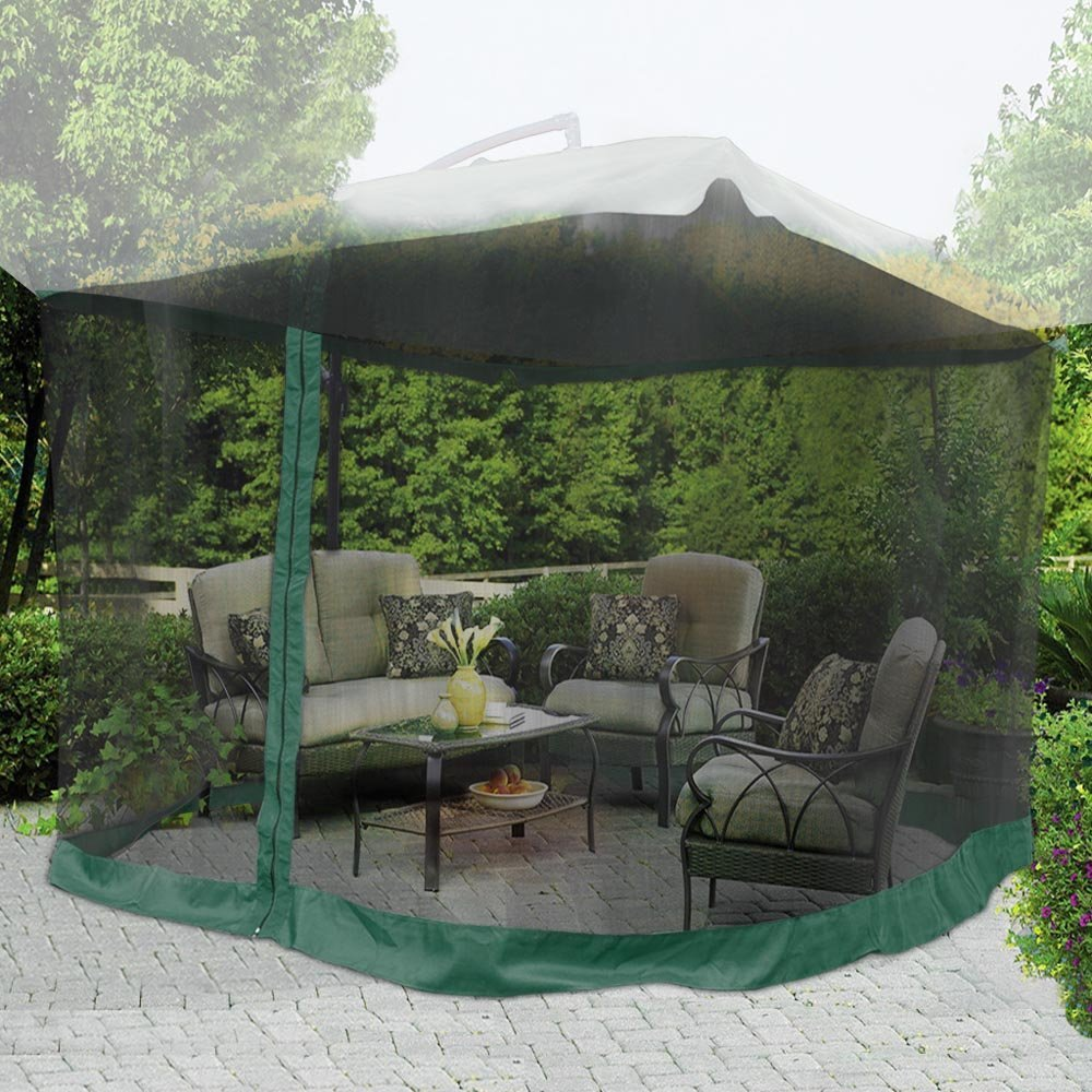 Yescom 9 X9 Green Mosquito Netting Screen Mesh Net For Outdoor Patio Offset Umbrella