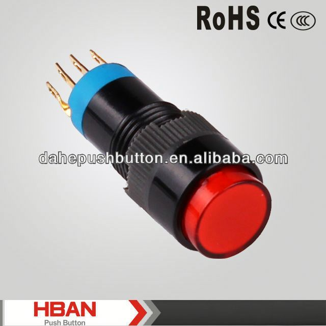 CE ROHS magnetic switch push button