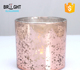 2018 Latest Decorative Empty Custom Rose Gold Glass Candle Jar