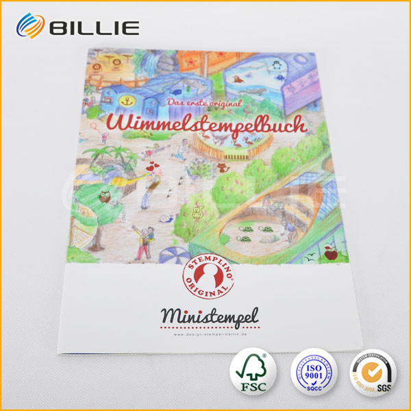 china printing company printing custom board coloring travel books printing