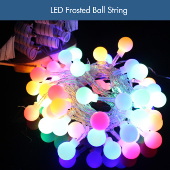8 modes pvc frosted led ball lights 10m led round ball christmas lights for holiday garden