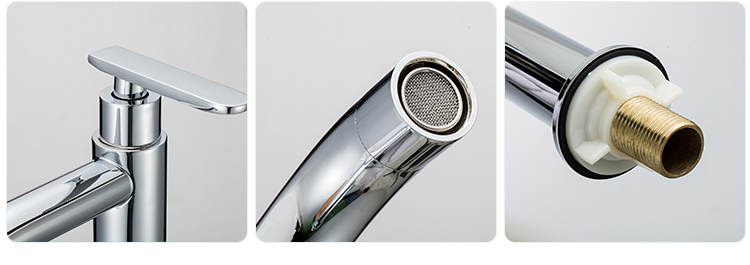 Made in china stainless steel 304 brush nickel basin single lever cold basin faucet ceramic tap