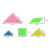 Cheapest colorful diy plastic game toys tangrams puzzle for kids