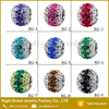 Gem Stone Paved Loose Bead DIY Charms Crystal European Spacer Bead