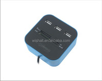 2014 best selling Combo- USB 2.0 Card reader+USB 2.0 3 port HUB