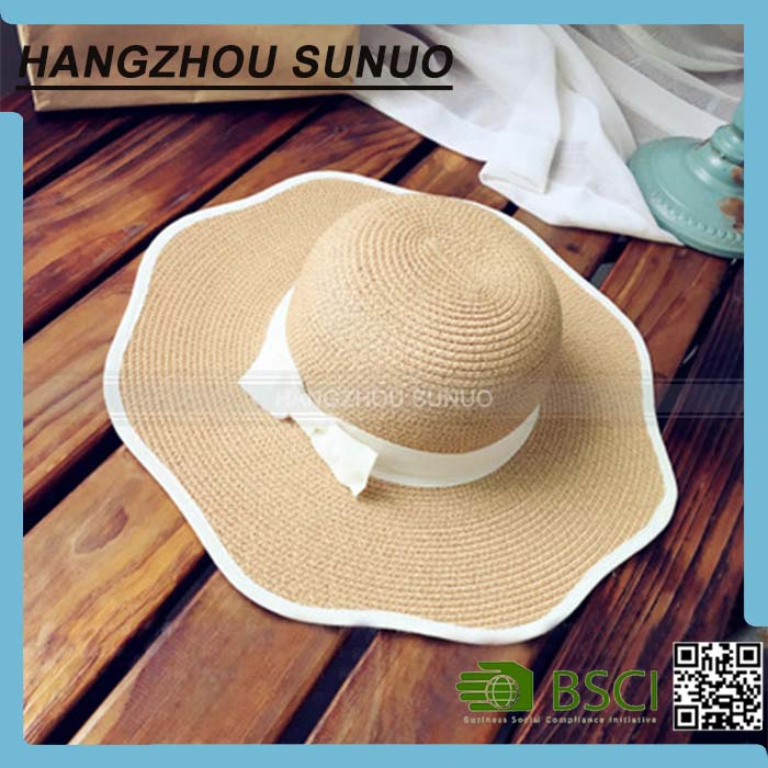 Wholesale Mexican Imports Girls Wide Brim Colombian Straw Boater Hat Cheap