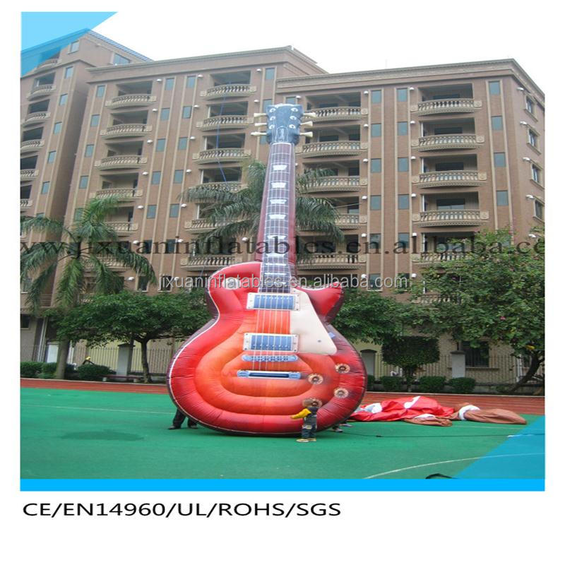 Big promotion giant inflatable guitar,inflatable cartoon characters on sale