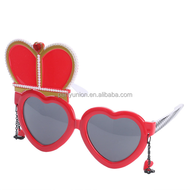 Alice In Wonderland Red Queen Glasses Cosplay Wedding Heart Glasses Props Party Supplies Decoration Accessories