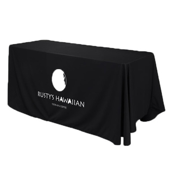 Custom printed conference table cloths with logo