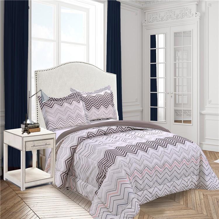 270gsm poly fill polyester comforter setcheap king size
