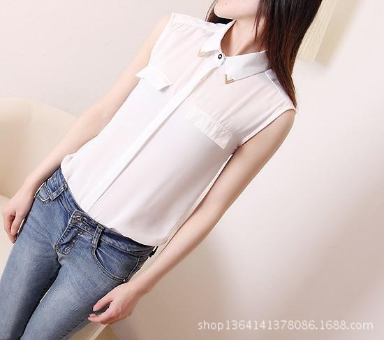 Mujer Blusas Feminina Camisa 2015 мода старинные женские рубашки шифон блузка сладкие черные женщины офис рубашка топы Roupas sml