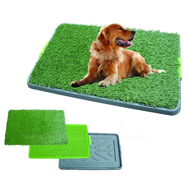 Grass Potty Training With Tray And Loo Pad Indoor Dog Toilet