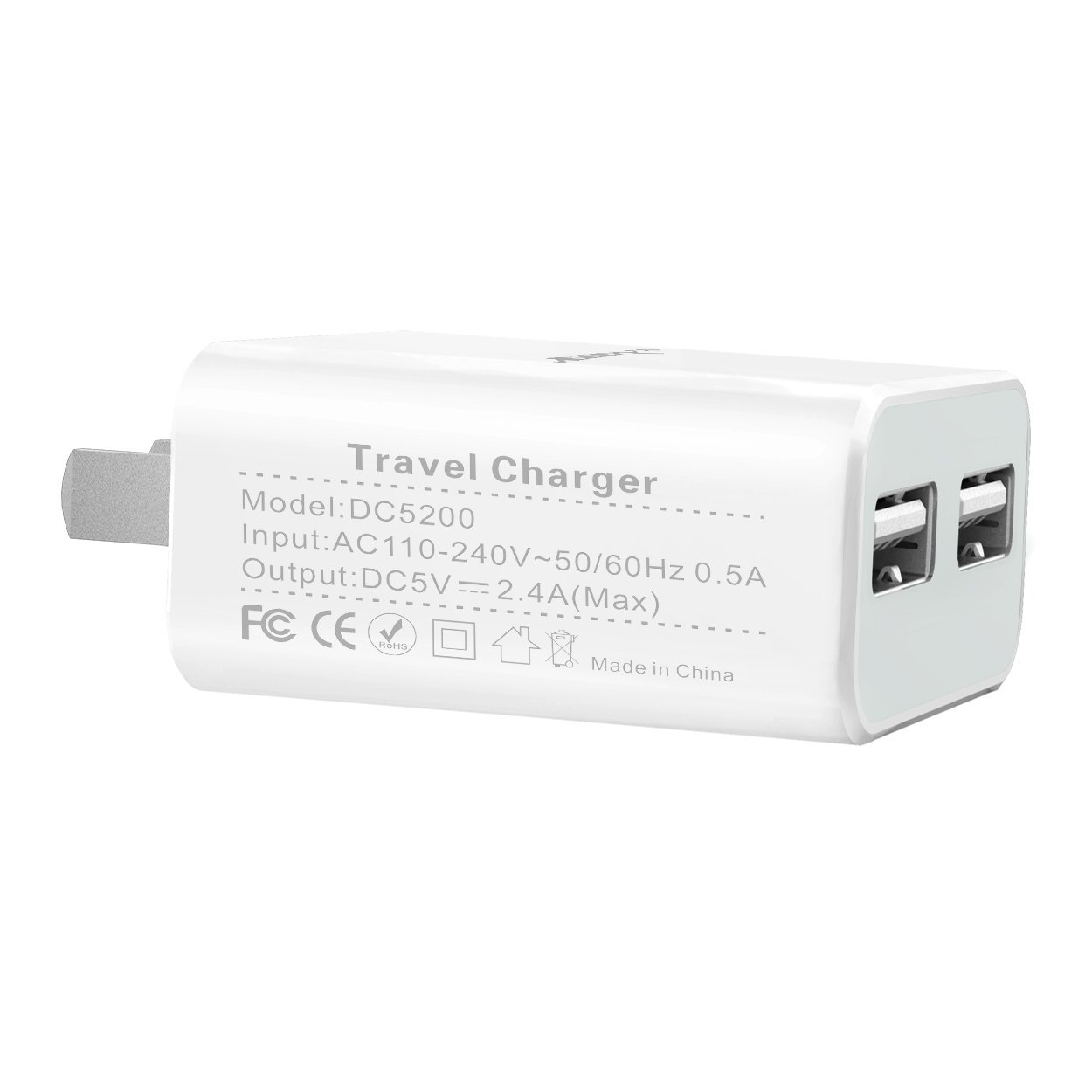 outlet store 3c86e dc1bd Buy Dual USB Charger: Lrker 2.4A 12W 2 USB Universal Home Wall ...