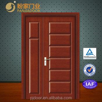 . Modern Wooden Main Double Door Design wpj 802   Buy Wooden Main Door  Design Wooden Double Door Modern Wooden Door Design Product on Alibaba com