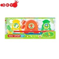 Promotional Cheap Mini Plastic Kids Sport Golf Toy Set For Kids